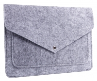 "Чехол-конверт для MacBook 13"" Gmakin Felt Cover Серый (Grey) (GM07-13)"