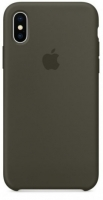 Чехол для Apple iPhone XS Max Silicone Case - Dark Olive OEM