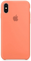 Чехол для Apple iPhone XS Max Silicone Case - Peach OEM