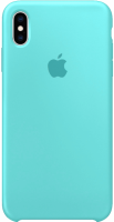 Чехол для Apple iPhone XS Max Silicone Case - Sea Blue OEM