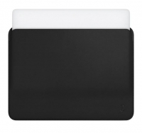 "Карман для MacBook Pro 15"" (2016/2017/2018) WIWU Skin Pro PU Leather Sleeve Чёрный (Black)"