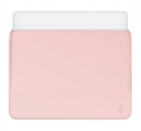 "Карман для MacBook Pro 15"" (2016/2017/2018) WIWU Skin Pro PU Leather Sleeve Розовый (Pink)"
