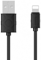 Кабель Lightning to USB 1m Baseus Yaven Black