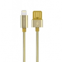 Кабель Lightning to USB 1m WK Alloy 039 Gold