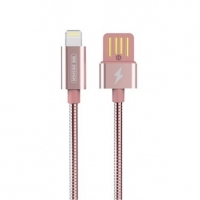 Кабель Lightning to USB 1m WK Alloy 039 Rose Gold