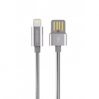 Кабель Lightning to USB 1m WK Alloy 039 Silver