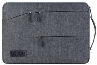 "Сумка-карман для MacBook Pro 15"" Wiwu Pocket Sleeve Серая (Grey)"
