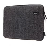 "Сумка-карман для MacBook Pro 15"" Wiwu Woolen Sleeve Серая (Grey)"