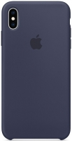 Чехол для Apple iPhone XS Max Silicone Case - Midnight Blue OEM