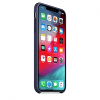 Оригинальный чехол для Apple iPhone XS Max Silicone Case - Midnight Blue (MRWG2)