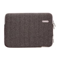 "Сумка-карман для MacBook 13"" WIWU Woolen Sleeve Коричневая (Brown)"