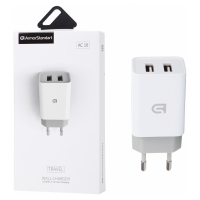 Зарядное устройство Smart Charger Armorstandart AC10 (2 USB, 2.1A) Fast Speed White